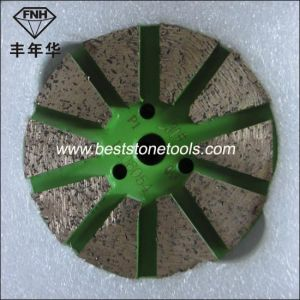 Hook & Loop Back Diamond Segment Metal Pad for Concrete pictures & photos