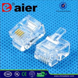 Rj 11plug Modular Plug 6p4c pictures & photos