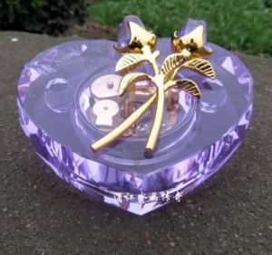 Heart Shaped Crystal Music Box for Christmas Gift pictures & photos
