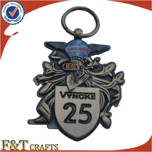 Wholesale Promotional Gifts 3D Relief Antique Die Cast Metal Keychain (FTKC1727A) pictures & photos
