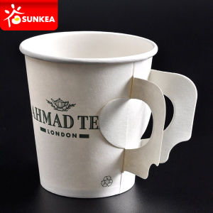 Wholesale 4oz 7oz 9oz Coffee Paper Cup with Handle pictures & photos
