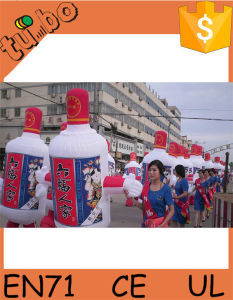 Giant Inflatable Mascot Wine Costume for Giant Inflatable Beer Can