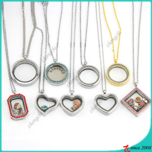 Hot Selling Glass Locket Pendant Necklace Wholeale (FL16041214) pictures & photos