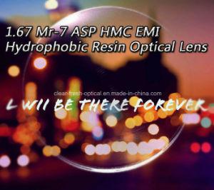 1.67 Mr-7 Asp Hmc EMI Hydrophobic Resin Optical Lens