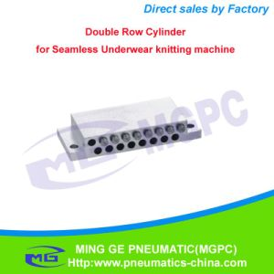 Knitting Machine Parts Pneumatic Double Row Cylinder for Seamless Underwear Knitting Machine pictures & photos