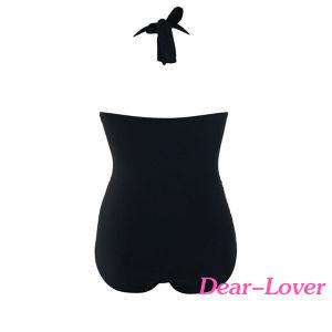 Solid Black Plus Size Non-Underwire Monokini pictures & photos