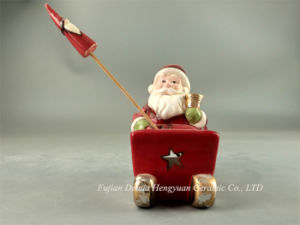 LED Lighted Ceramic Crafts for Christams, Santa Claus for Christmas Decoration pictures & photos