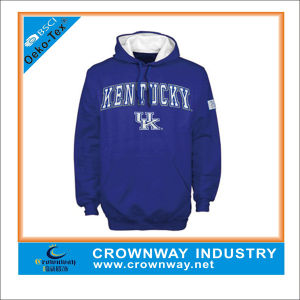 Fashion Rubber Print Blue Hoody Sweatshirt for Junior pictures & photos