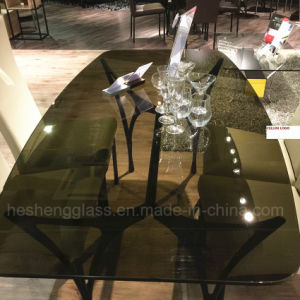 10mm Brown Tempered Glass for Coffee Table Top pictures & photos