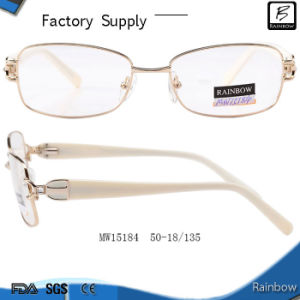 Hot Selling Elegant Woman Optical Frames with Crystal (MW15184)