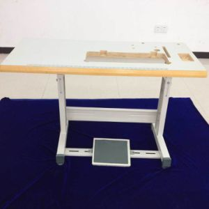 Industrial Sewing T Type Stand with Wood Edge Table
