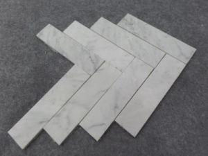 2017 Eastern Polished Marble Bianco Carrara White Herribone Mosaic Tile pictures & photos
