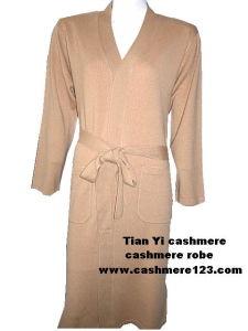 Cashmere Knit Bath Robe pictures & photos