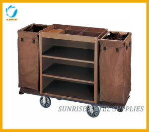 Hot Sale High Quality Hotel Luggage Trolley Housekeeping Cart pictures & photos