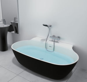 China Manufacturer Modern Style Acrylic Solid Surface Bathtub Freestanding Bathtub pictures & photos