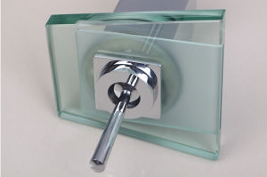 Deck Mount Waterfal LED Square Bathroom Sink Mixer Tap pictures & photos