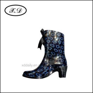Ladies Fashion Rain Boots with PVC pictures & photos