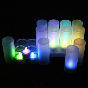 Wedding Rechargeable Flameless LED Light Candle with 7 Color pictures & photos