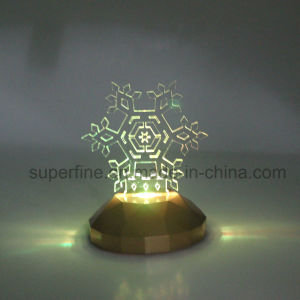 Flameless Romantic Color Changing Magic Electric Christmas Snowflake Acrylic LED Light for Children pictures & photos