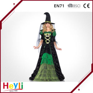 Adult Witch Cosplay Dress Costume for Halloween Party pictures & photos