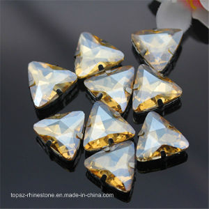 Triangle Claw Setting Sew on Crystal Fancy Stone Crystal Glass Stone (SW-Triangle 23mm) pictures & photos