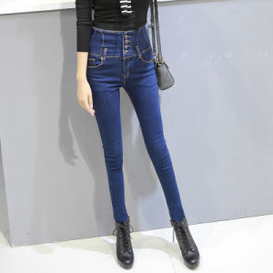 High Quality Slim Denim Ladies Jeans pictures & photos