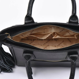 Elegant PU Tote Bag with Tassels on Both Sides pictures & photos