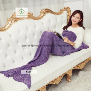 140cm*70cm Crochet Mermaid Tail Blanket Soft Sleeping Bag Knitted Blanket pictures & photos
