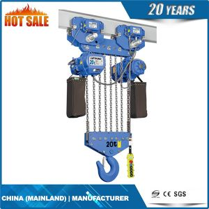 Double Chain Fall 3t Electric Chain Hoist pictures & photos