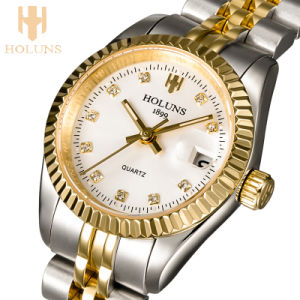 Luxurious Diamond Quartz Ladies Watches Sport Business Stainless Steel Waterproof Watch Love Gift Fashion pictures & photos