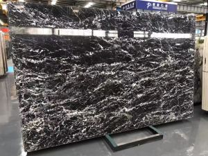 Factory Directly Price Nero Italian Black Marble Countertop with White Veins pictures & photos