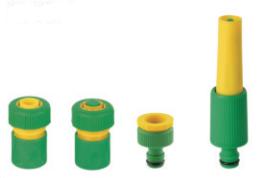 Adjustable Hose Nozzle 3/4 4PCS Set pictures & photos