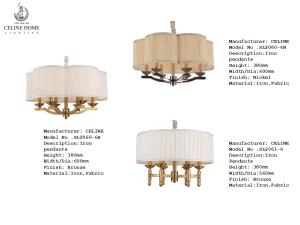 Popular Fashion Pendant Lamp Chandelier (SL2060-6B) pictures & photos