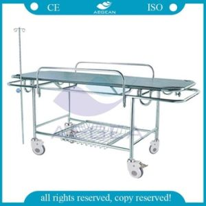 AG-HS015 ISO&Ce Approved Hospital Used Metal Frame Patient Stretcher pictures & photos