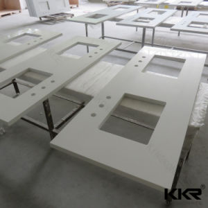 Sparkling White Quartz Stone Kitchen & Bathroom Vanity Top pictures & photos