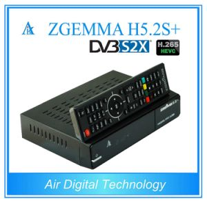 Linux Kernel Multisteam Decoder Zgemma H5.2s Plus Satellite/Cable Receiver Hevc/H. 265 DVB-S2+S2X/T2/C Triple Tuners pictures & photos