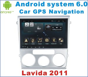 Android System 6.0 Car DVD Player for Lavida 2011 with Car GPS Navigatin