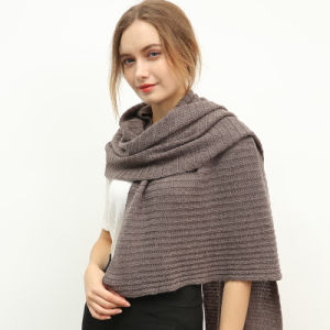 Pure Color Wool Knitting Scarf for Women pictures & photos