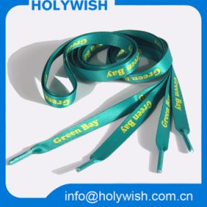 Custom Color Polyester Material Heat Transfer Shoe Lace pictures & photos