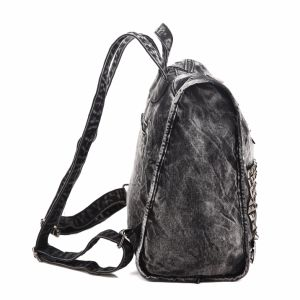 Stud Design High Quality Denim Women Backpack (MBNO040038) pictures & photos