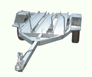 Hot DIP Galvanized Motorcycle Trailer with 3 Rail pictures & photos
