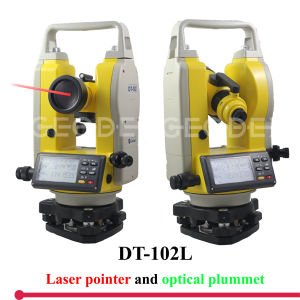 Precision Measuring Instrument Digital Theodolite Dt-102 with Laser Plummet pictures & photos