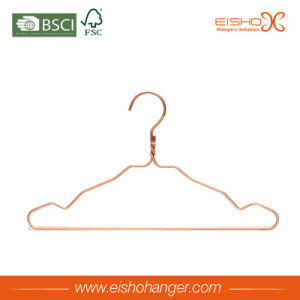 Beautiful Gold Color Wire Hanger for Garment pictures & photos