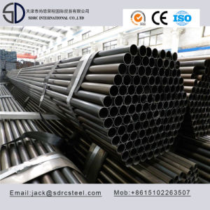 Slight Oiled Round Black Annealed Steel Pipe pictures & photos