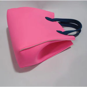 Fashion Neoprene Handbag with Rope Handles and Mini Pouch Inside pictures & photos