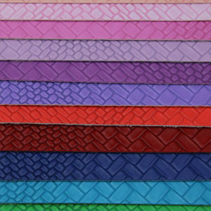 Soft Durable Synthetic Woven Handbags Leather (H1552) pictures & photos