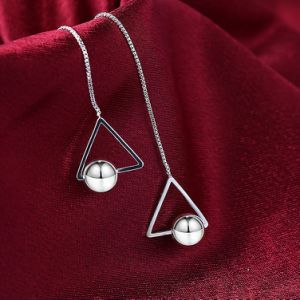 2017 New Design Fashion Silver Women Earrings Triangle Shape Drop pictures & photos