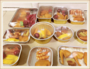 Aluminum Foil Leak Proof Rectangular Food Containers with Cover pictures & photos