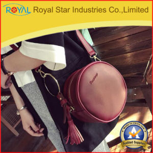 Women Handbags Fashion Round Crossbody Bag with Tassel and Detachable Adjustable Shoulder Strap
