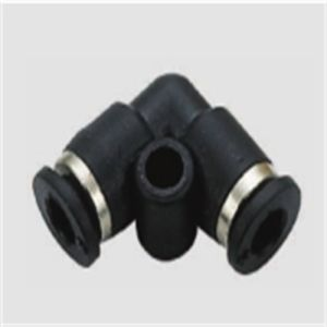 Mini PV 90 Degree L Type Plastic Pneumatic Tube Fitting pictures & photos